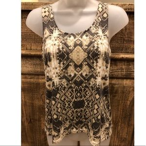 Brown/Tan Tribal Pattern Tank